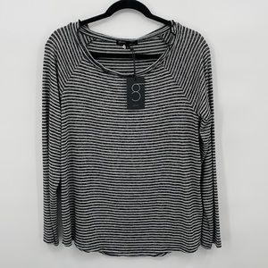 Gibson Women's long sleeve striped top